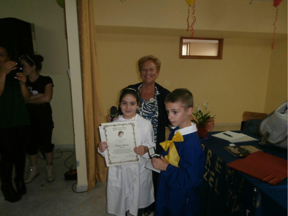 Consegna del premio a Chiara Siesto.