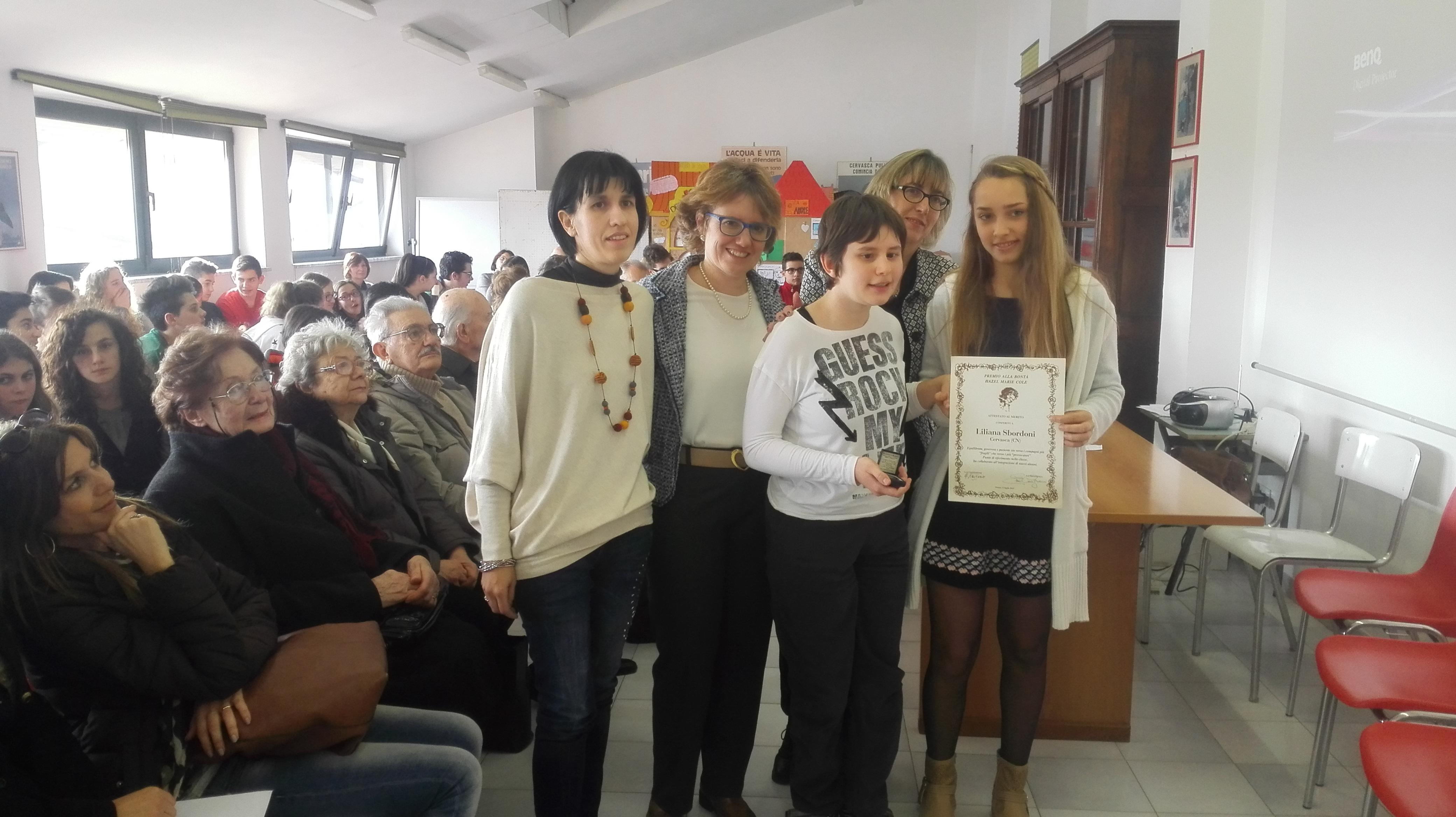 Premiata, autorità e pubblico Presenti alla cerimonia.