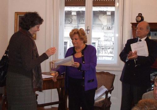 Trieste, 9 febbraio 2009: Momenti della premiazione per la terza linea di premi.