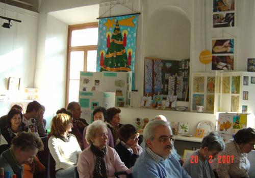 Veduta della sala della Associazione Gaetano Negri di Milano dove ha avuto luogo la premiazione di Anna Maria Contini