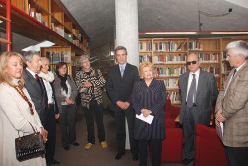 L'Ambasciatore di Monaco a Roma M. Blanchi, il Sindaco di Duino Ret, il Rettore del Collegio del Mondo Unito di Duino Mr Abrioux ed alcuni esponenti del Premio con la Presidente Carignani
