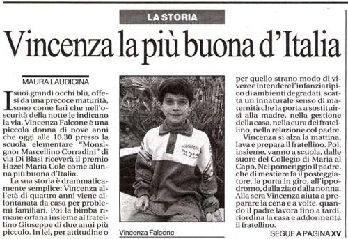 24 ottobre 2002 La Repubblica, Roma Vincenza la più buona d'Italia