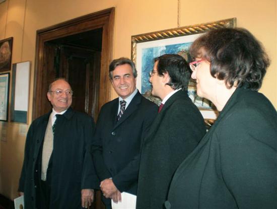 Duino, 24 ottobre 2009 - Presentazione della mostra da parte delle autorità di Duino.