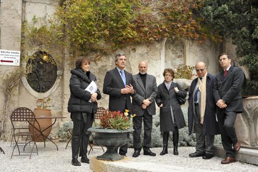 Duino, 30 ottobre 2010 - Un momento dei discorsi di apertura della mostra. (Foto Micol)