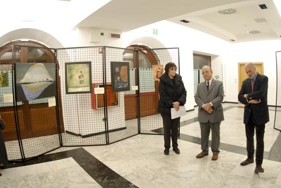 Trieste, 6 novembre 2010 - Un momento dei discorsi di apertura della mostra. (Foto Micol)
