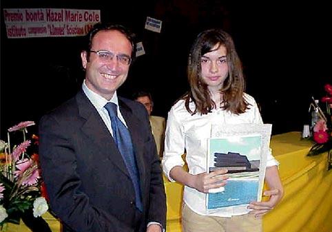 Virginia durante la premiazione.