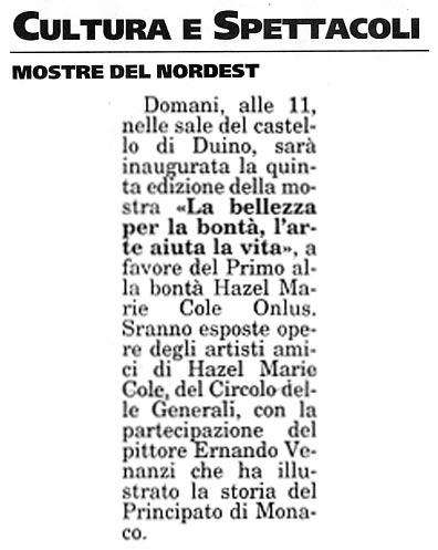 7 gennaio 2005 Il Piccolo, Trieste Le Mostre del Nord Est
