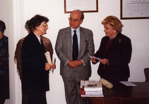 Premiazione della Sig.ra Nemez.