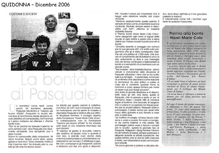 dicembre 2006 Quidonna La bontà di Pasquale