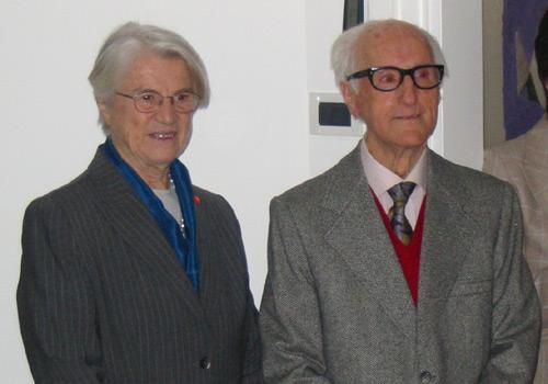 Il sig. Sancin con la presidente della fondazione de Banfield signora Anna Illy