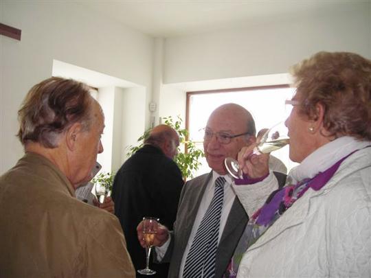 Trieste, 22 ottobre 2011 - Dopo la presentazione, il brindisi augurale.