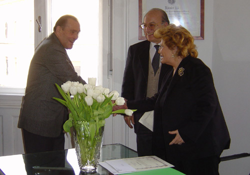 Premiazione del Sig. Bertamini