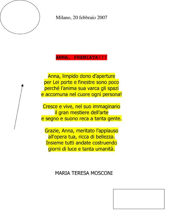 La poesia che Maria Teresa Mosconi ha dedicato a Anna Maria Contini