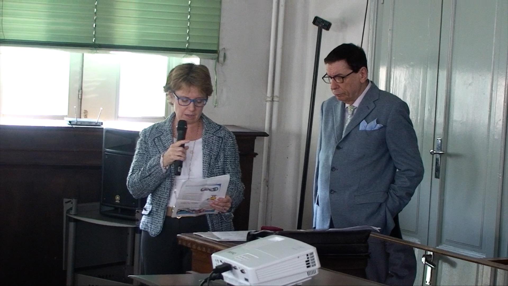 La Vice presidente, dott.ssa Donatella Pianciamore durante il suo discorso sulla premiazione