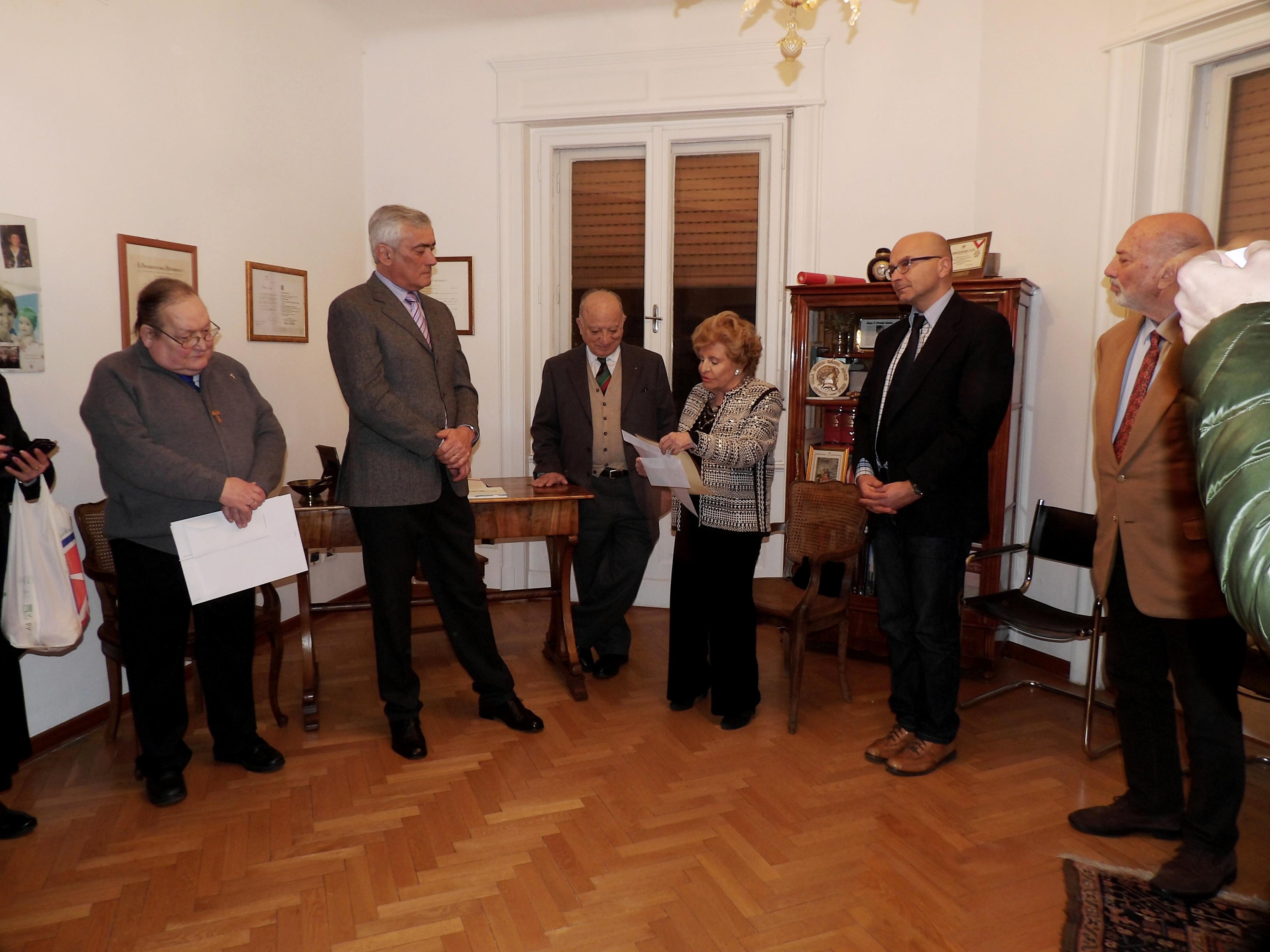 Gianni Murador ritira suo premio