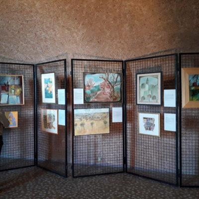 Alcuni quadri esposti alla mostra