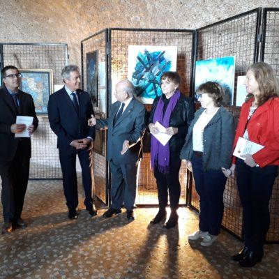 Dott.Pianciamore introduce le autorità presenti alla mostra