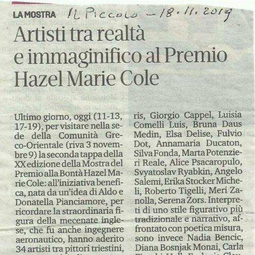 Articolo de IL PICCOLO del 18.11.2019