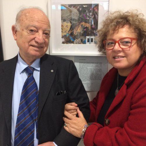 Il Segretario Aldo Pianciamore con l'artista Alda Baglioni